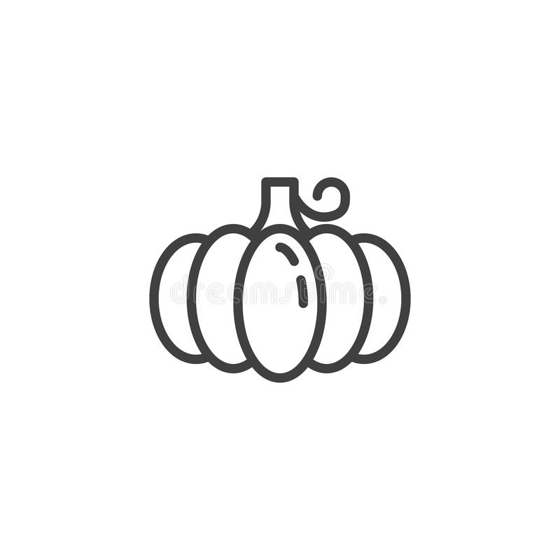 Pumpa grönsaklinje symbol royaltyfri illustrationer