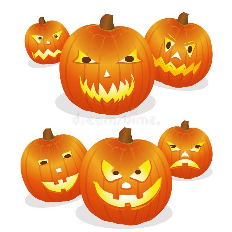 Pumpa halloween stock illustrationer