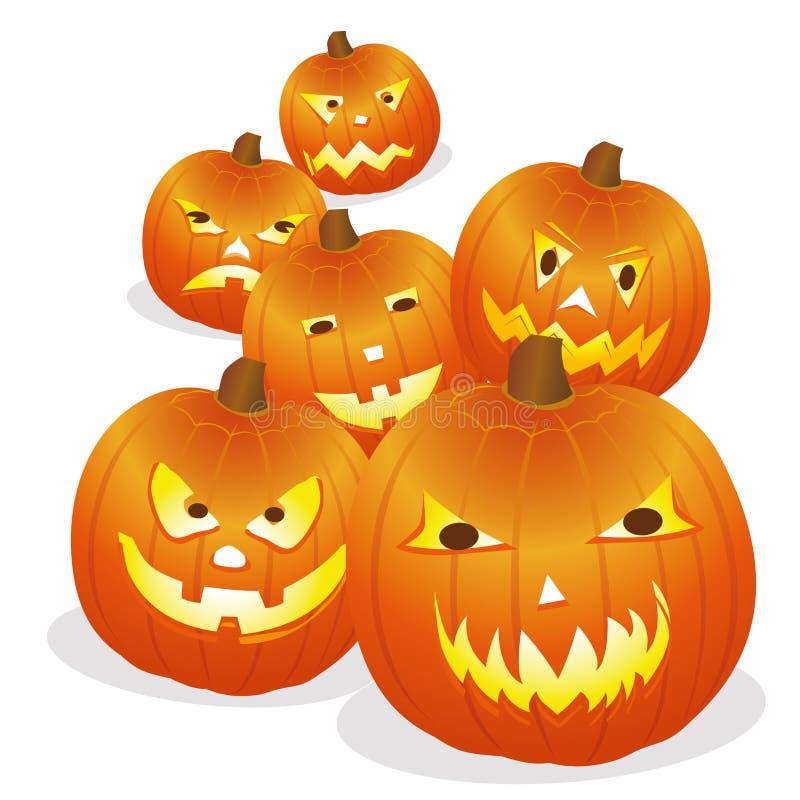Pumpa halloween royaltyfri illustrationer