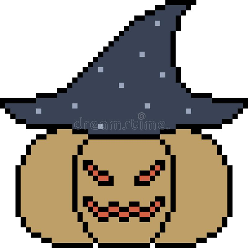 Pumpa halloween för vektorPIXELkonst royaltyfri illustrationer