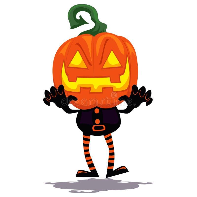 Pumpaclown Ghost stock illustrationer