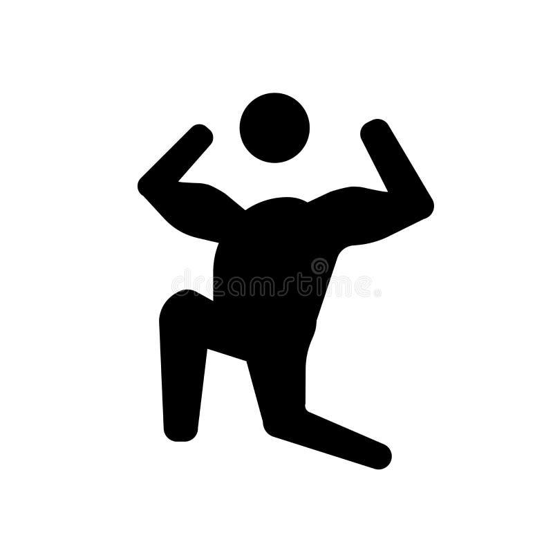 pumpad mänsklig symbol Moderiktigt pumpat mänskligt logobegrepp på vit bac royaltyfri illustrationer