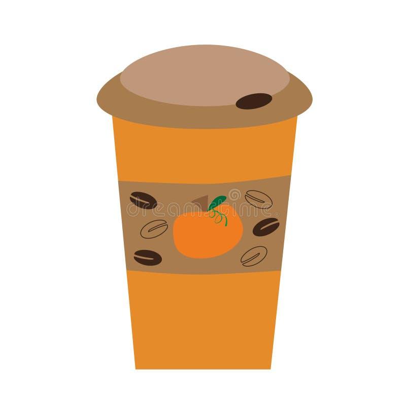 Pumpakryddakaffe stock illustrationer