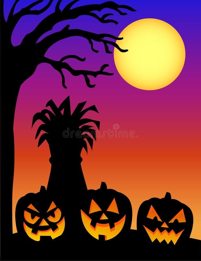 pumpasilhouette för e halloween stock illustrationer