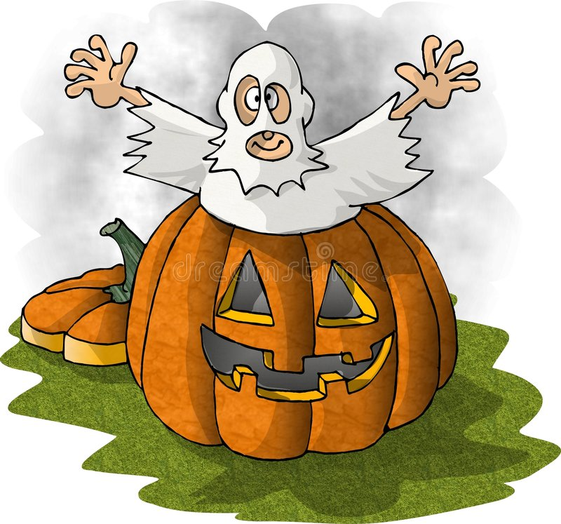 Download Pumpaspöke stock illustrationer. Illustration av cartoon - 30675