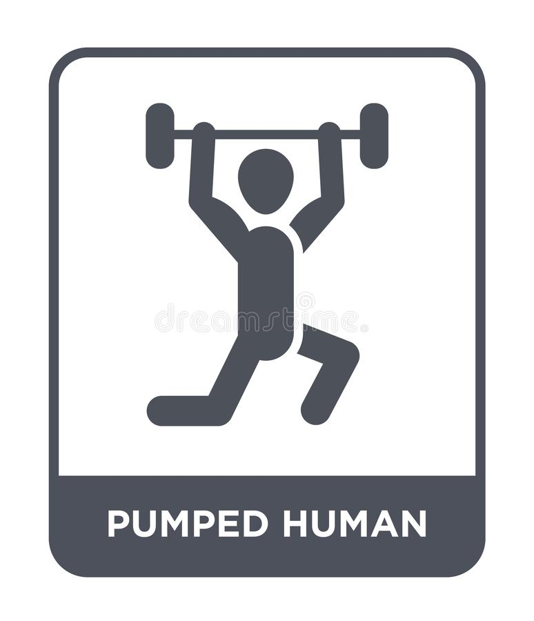 pumped human icon in trendy design style. pumped human icon isolated on white background. pumped human vector icon simple and vector illustration
