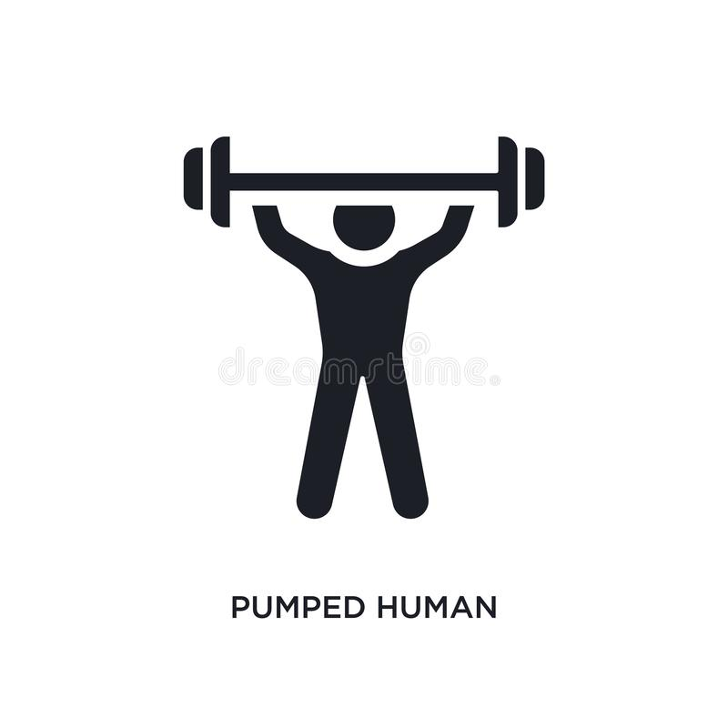 pumped human isolated icon. simple element illustration from feelings concept icons. pumped human editable logo sign symbol design royalty free illustration
