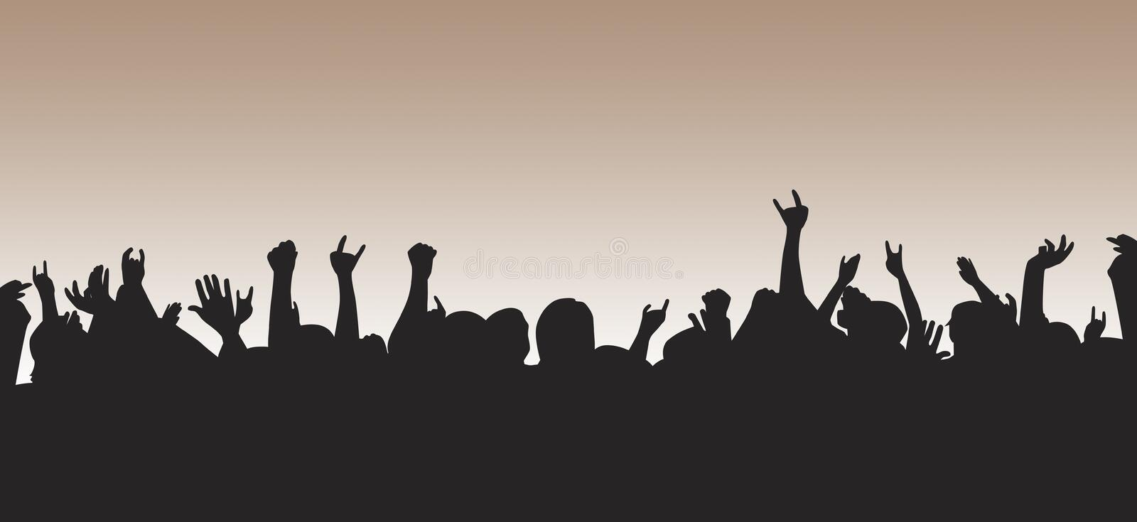 Pumped Up Crowd Royalty Free Stock Photography