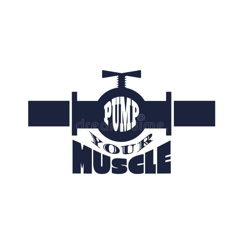 Pumpen Sie Ihren Muskeltext lizenzfreie abbildung