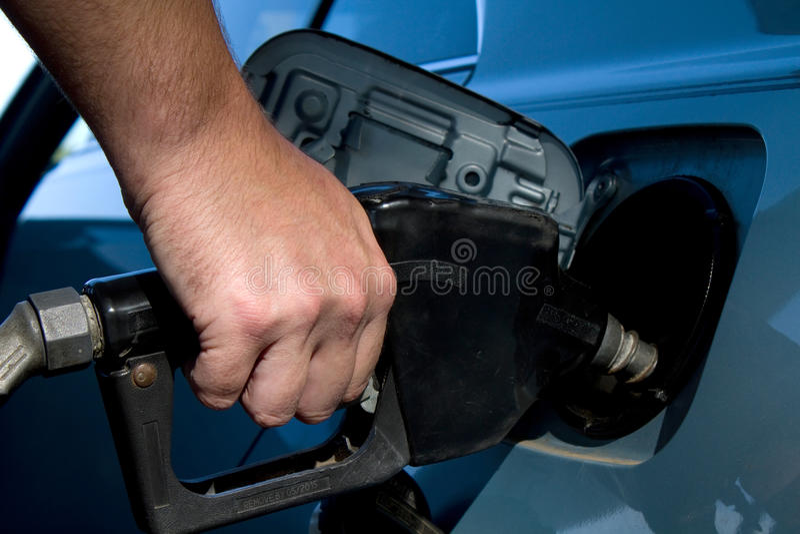 Pumpendes Gas stockfoto