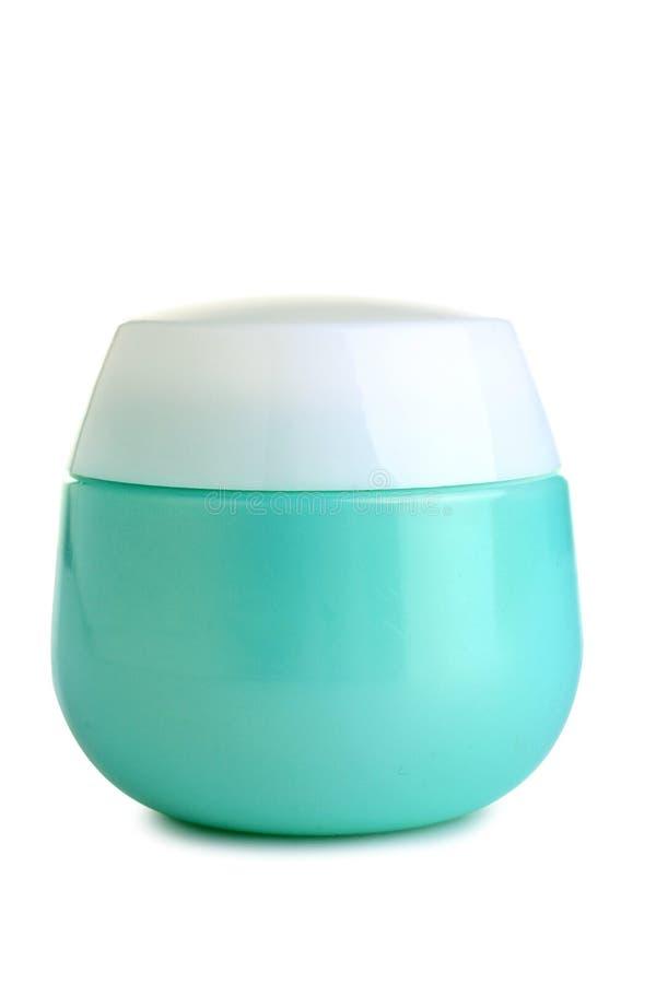 Pumpenflasche für Gesichtssahne lizenzfreies stockfoto