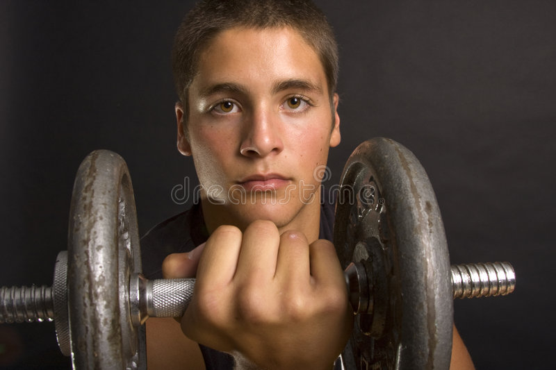 Pumping iron royalty free stock photos