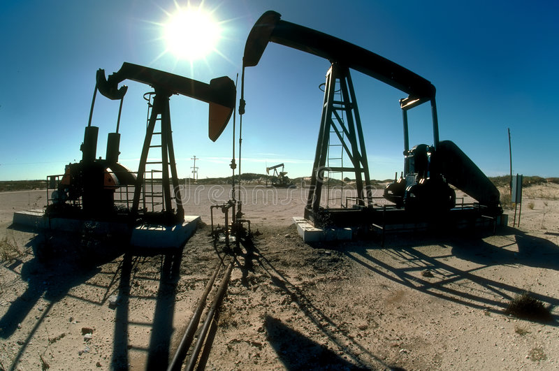 Pumping oil royalty free stock images