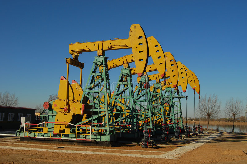 Download PUMPING OIL stock image. Image of resources, structure - 4765285