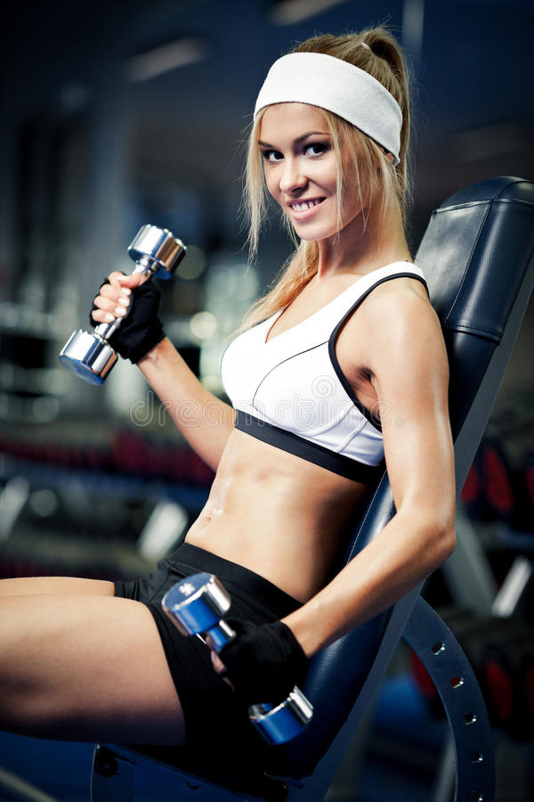 Pumping Up Biceps Stock Photography