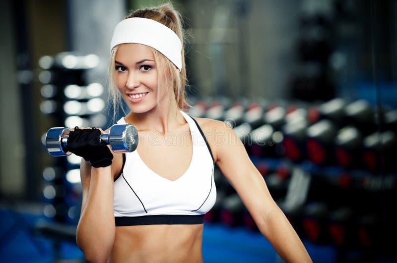 Pumping Up Biceps Royalty Free Stock Image