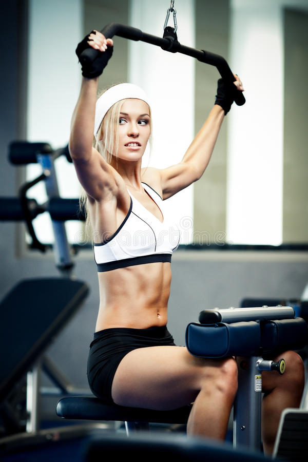 Download Pumping up muscles stock image. Image of dumbbell, caucasian - 36562607