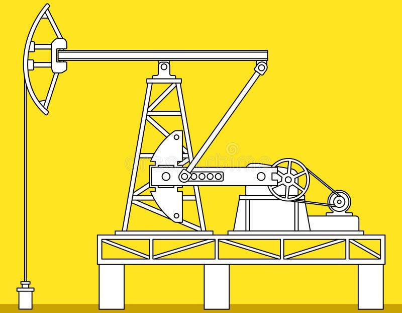 Pumpjack illustration de vecteur