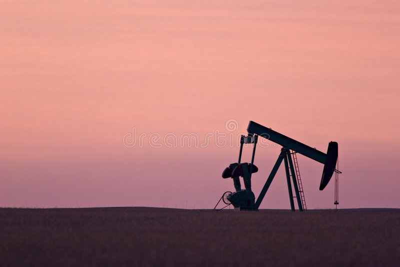 pumpjack obraz royalty free