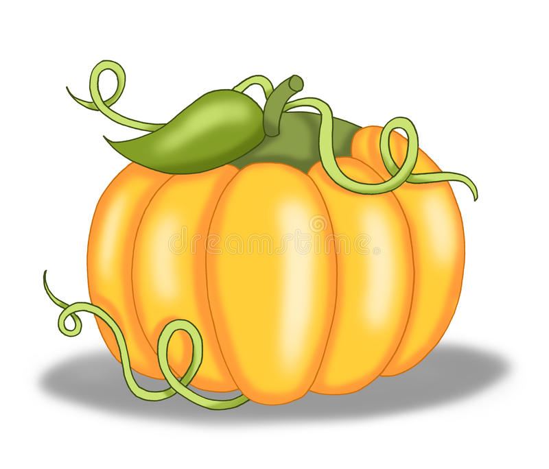 Download Pumpkin stock illustration. Illustration of leaf, ingredient - 10973983