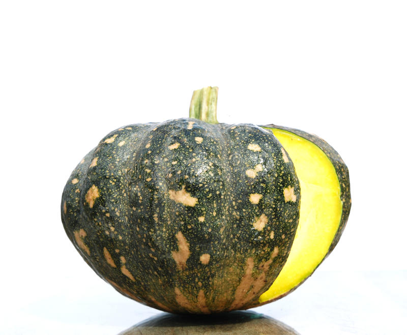 Pumpkin. The pumpkin isolated on a white background stock photography