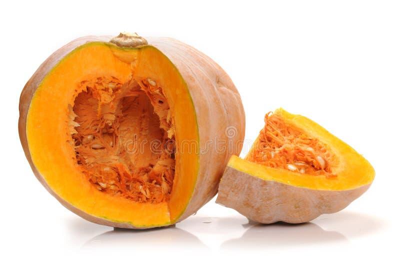 Pumpkin. With piece on white background