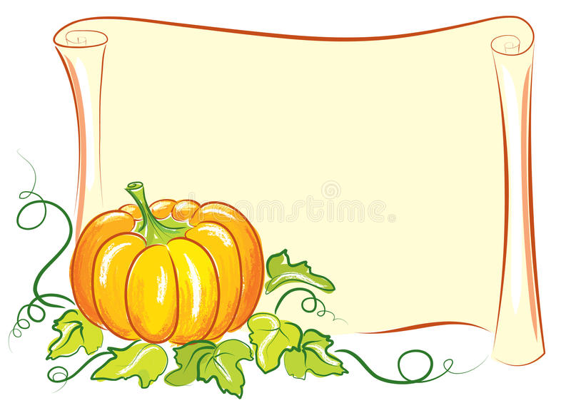 Pumpkin background stock images