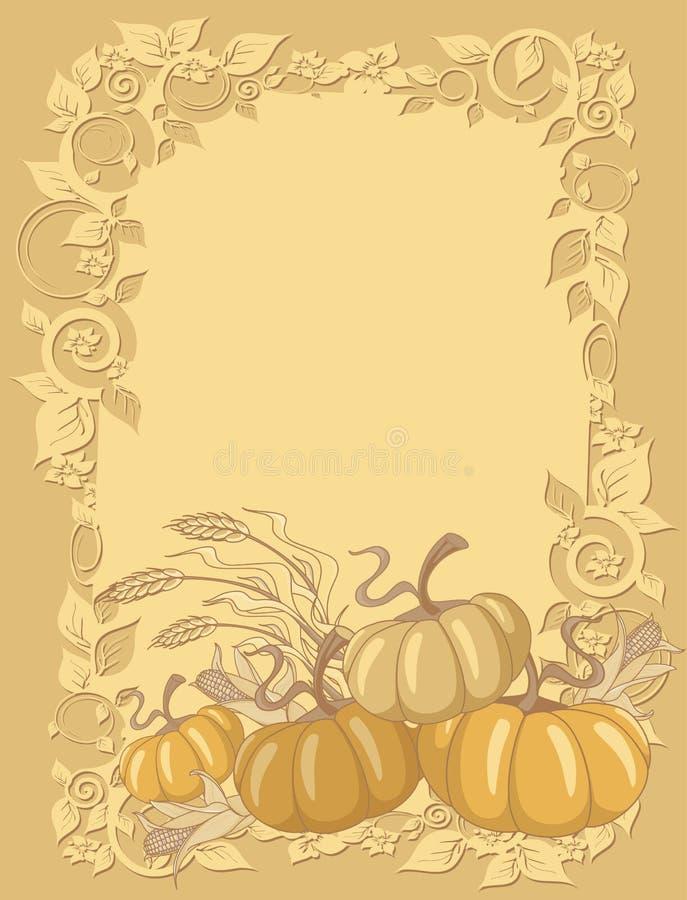 Download Pumpkin background stock vector. Image of cartoon, thanksgiving - 22060557
