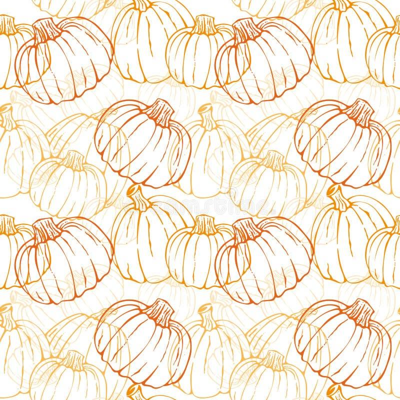 Pumpkin Background seamless pattern. Or wallpaper