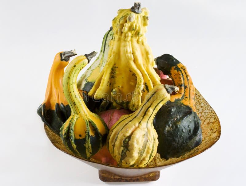 Pumpkin Basket Stock Photography