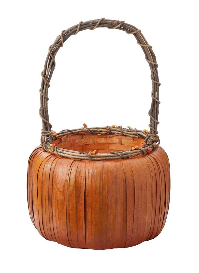 Download Pumpkin Basket Isolated On White Stock Photo - Image of macro, white: 26004062