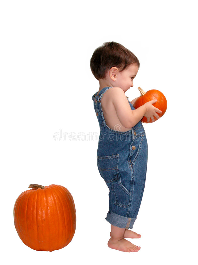 Pumpkin Boy Royalty Free Stock Images