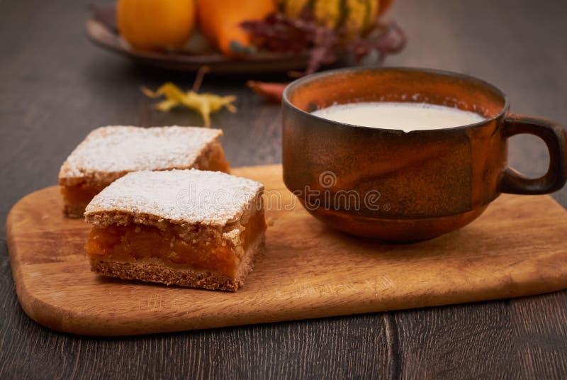 Pumpkin cake stock photo