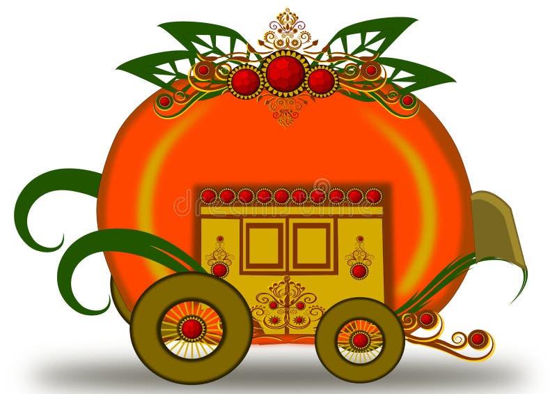 Pumpkin carriage stock illustration