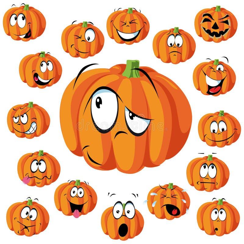 Pumpkin cartoon royalty free stock photos
