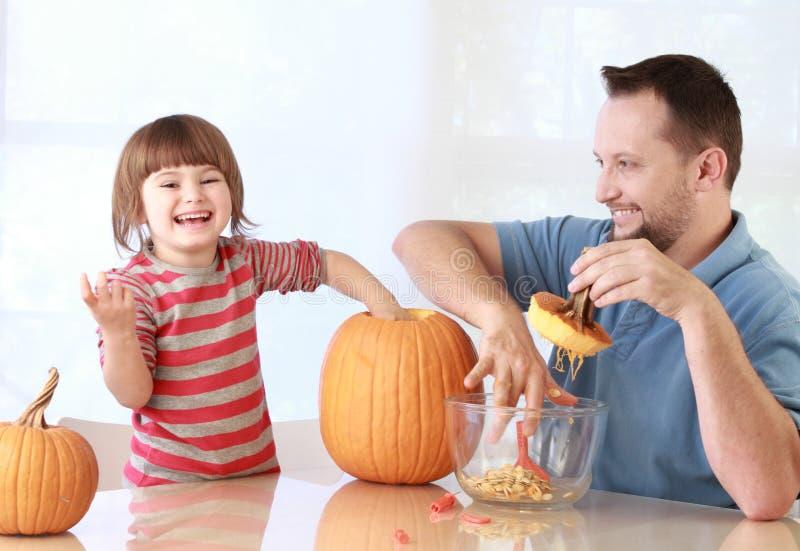 Pumpkin carving royalty free stock image