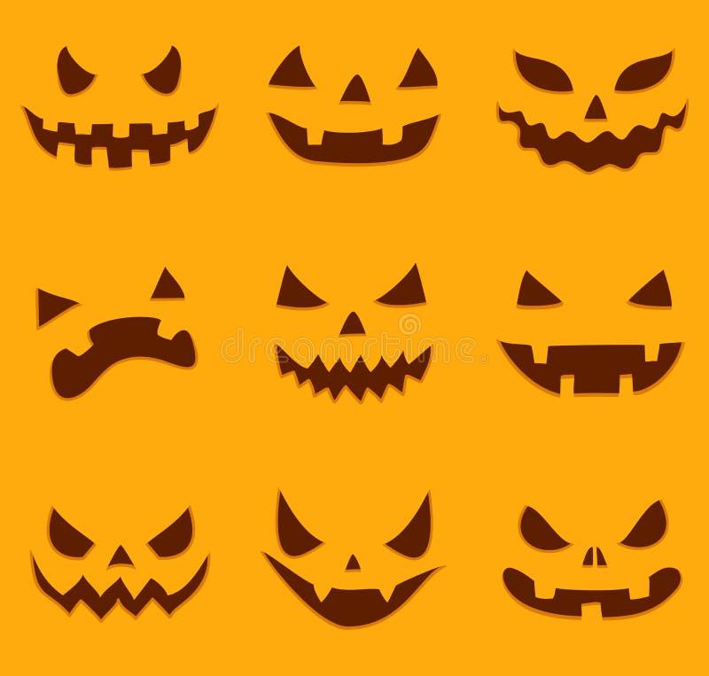 Pumpkin carving vector illustration