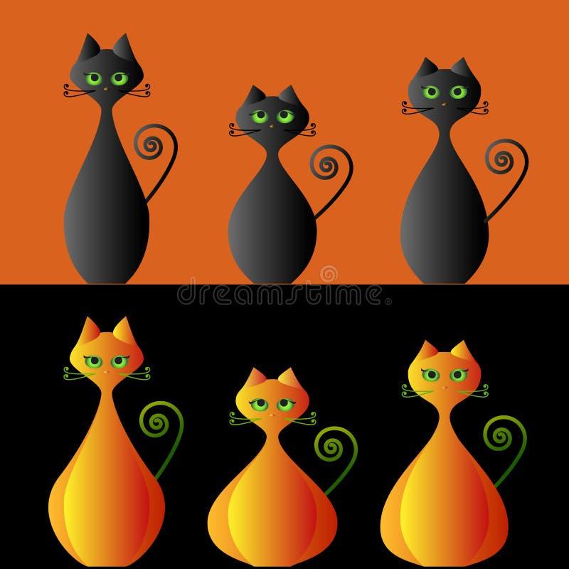 Pumpkin cats stock images