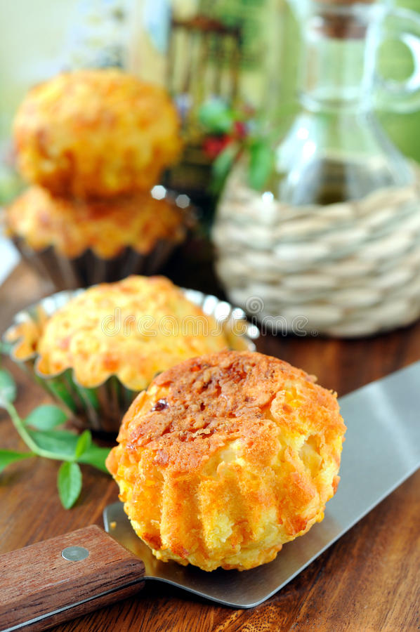 Pumpkin-Cheese Muffins royalty free stock photo