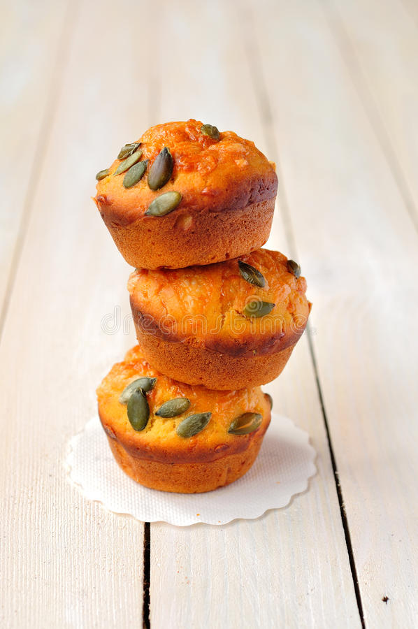 Download Pumpkin and Cheese Muffins stock photo. Image of cheddar - 28929908