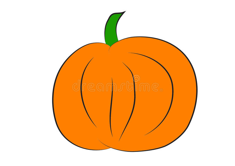 Pumpkin clipart stock illustration