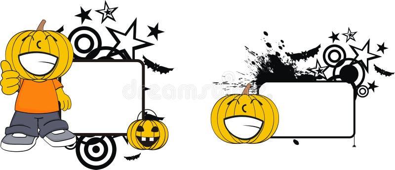 Pumpkin clothing kid cartoon halloween copy space stock illustration