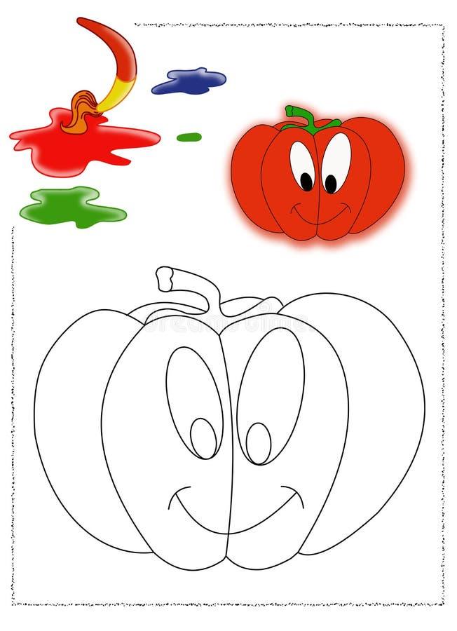 Pumpkin Coloring Stock Photo