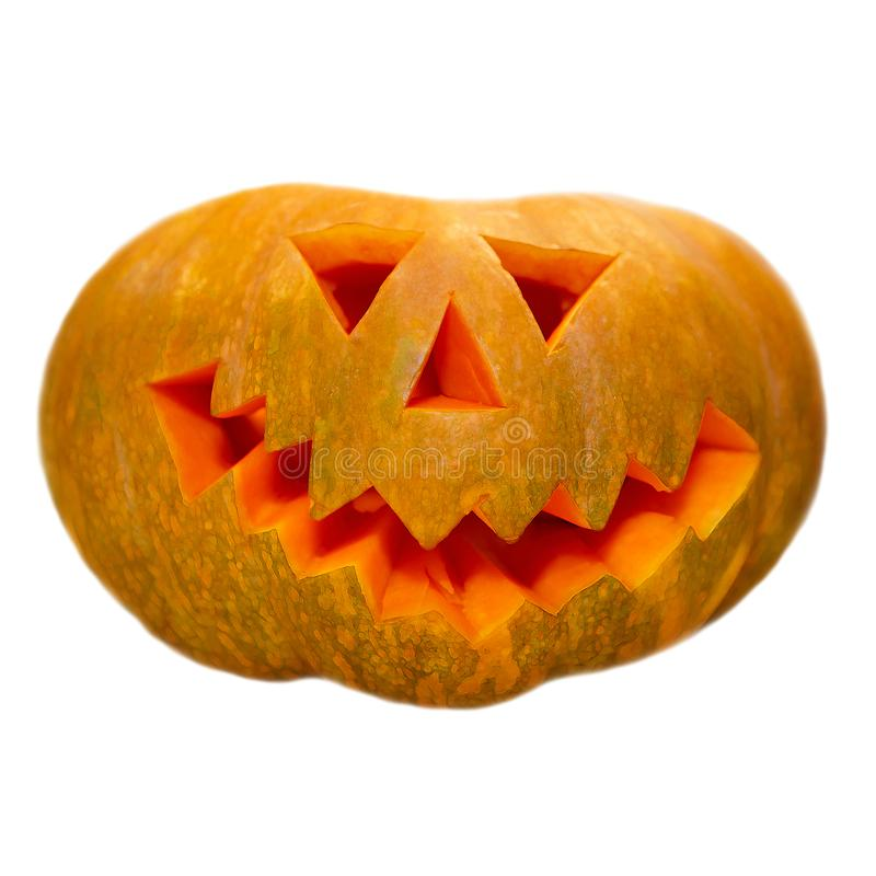 Pumpkin comical on white background. royalty free stock images