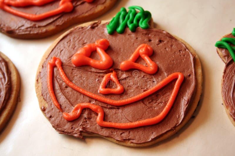 Download Pumpkin Cookie stock image. Image of chocolate, lantern - 1432357