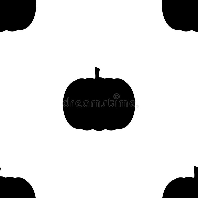 Pumpkin elements seamless background. Halloween tileable pattern. royalty free illustration