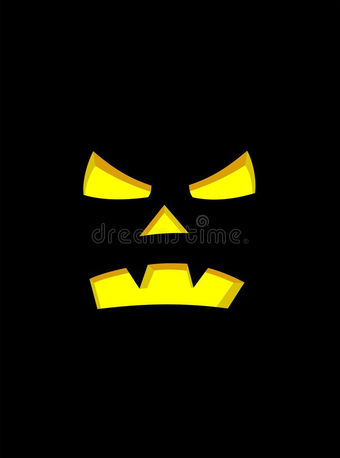 Download Pumpkin face stock vector. Image of image, burning, bright - 11274743