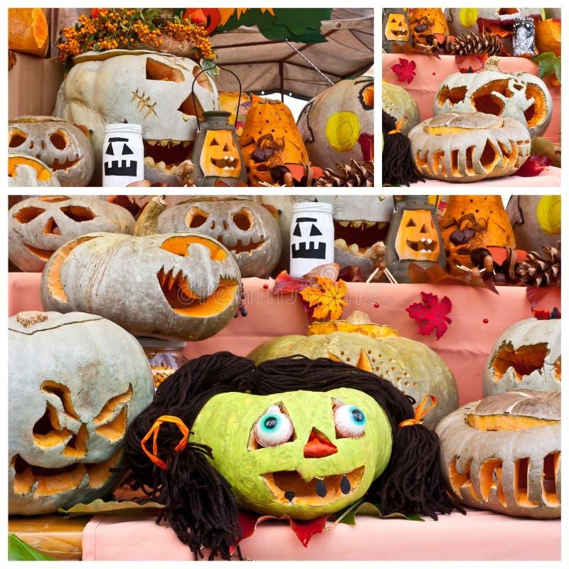 Pumpkin faces royalty free stock photo