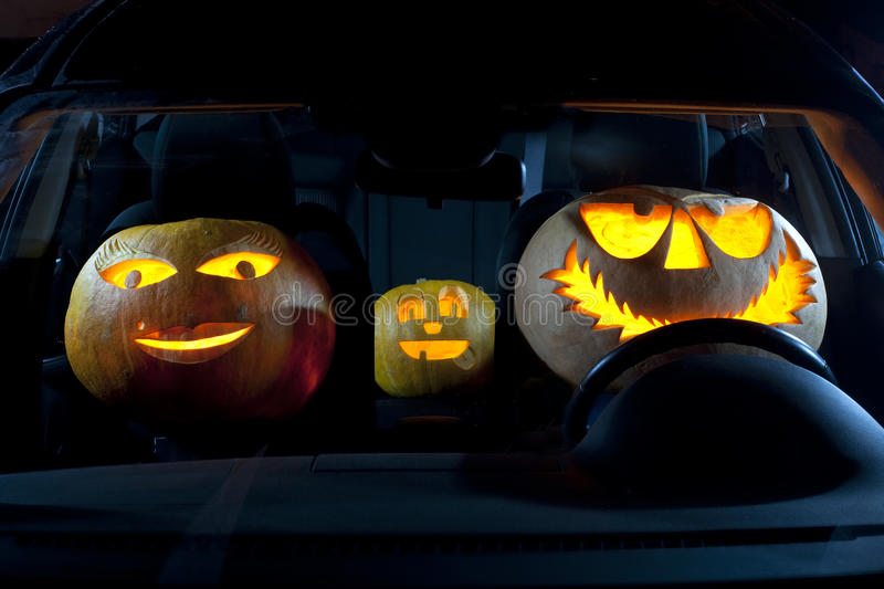 Download Pumpkin family in a car stock photo. Image of autumn - 11382064