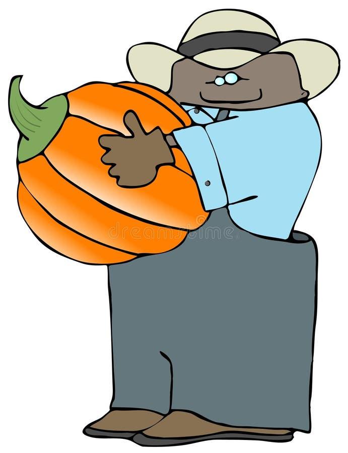 Download Pumpkin Farmer stock illustration. Illustration of black - 2936129